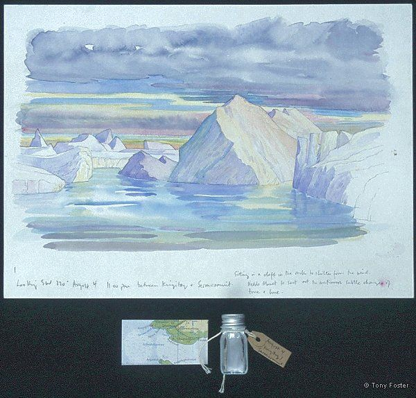 Ilulissat I between Kingittoq / Sermermuit looking 220º SW · -  10'' x 14''   2'' x 3½''