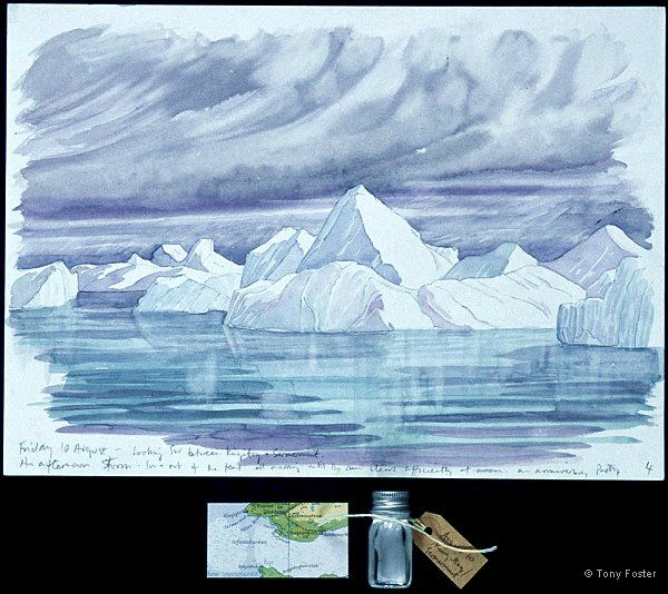 · Ilulissat IV between Kingittoq / Sermermuit looking SW · -  10'' x 14''   2'' x 3½''   -