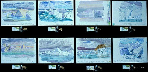 Greenland · Set of Eight -  10'' x 14''   2'' x 3½''    -