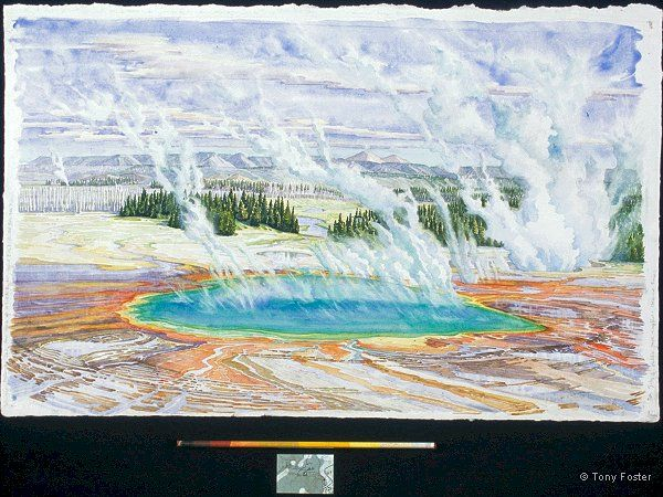Prismatic Pool from 200' up a Hill to the North · -  19½'' x 31''   3'' x 12¼'' -