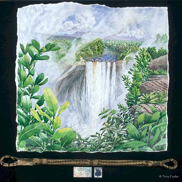 · Kaieteur Falls looking SW from Johnson's View · -  26½'' x 27''   4'' x 32'' -